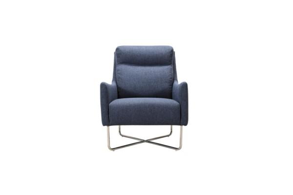 Крісло 1064-fk-1p з металевими ніжками хром | Супермаркет диванів Relax Studio