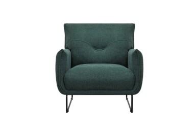 Стильное мягкое кресло с металлическими ножками. Модель 232-FK-1P. Киев. Супермаркет диванов Релакс Студио
