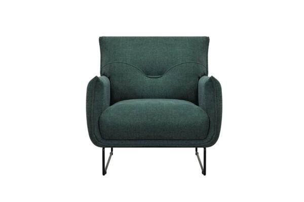Стильне м'яке крісло з металевими ніжками. Модель 232-FK-1P. Київ. Супермаркет диванів Релакс Студіо