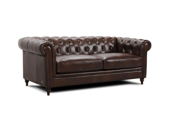 Диван с отделкой капитоне - для классического интерьера или кабинета. Модель 31300. Супермаркет диванов Relax Studio