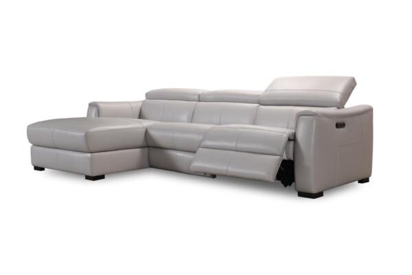 Кутовий диван в шкірі | Модель 32246emhm | Доступні ціни на шкіряні кутові дивани в Києві