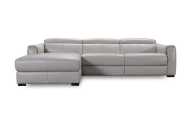 Кожаный современный угловой диван с электрическим реклайнером купить в Киеве | Супермаркет диванов Relax Studio