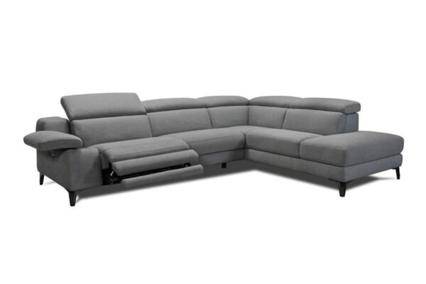 Угловой диван в ткани с электро реклайнером. Модель 32484. Супермаркет диванов Релакс Студио