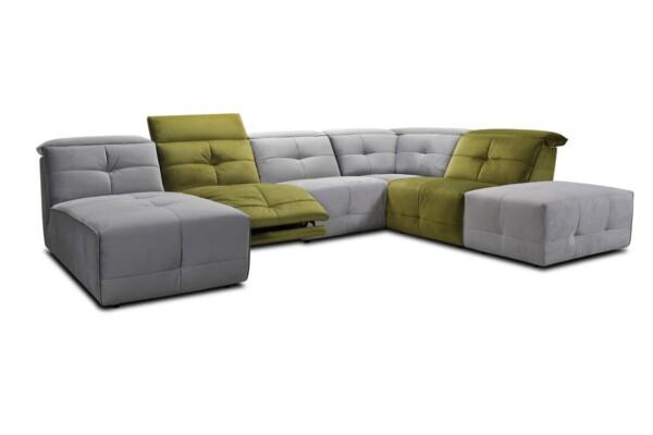 Модульний диван в яскравій тканині купити в Києві. Супермаркет диванів Relax Studio
