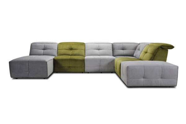 Купить яркий модульный диван с электрическим реклайнером в Киеве. Супермаркет диванов Релакс Студио