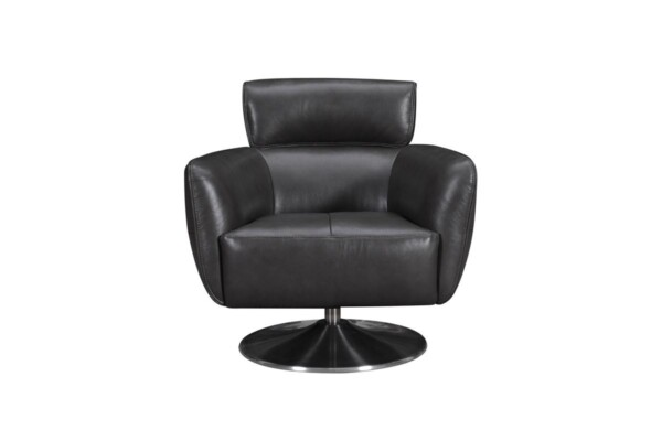 Крісло поворотне на одній ніжці хром | Супермаркет диванів Релакс Студіо