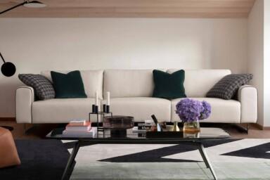 Большой прямой диван для просторной гостиной. Модель A0346. Супермаркет диванов Relax Studio