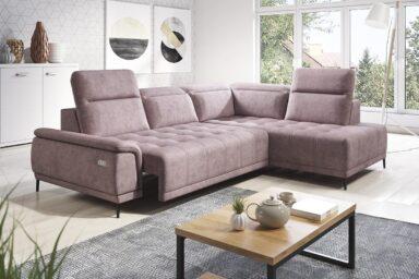 Кутовий диван Calvaro L | З механізмом розкладання для постійного сну з електричним приводом | Супермаркет диванів Релакс Студіо