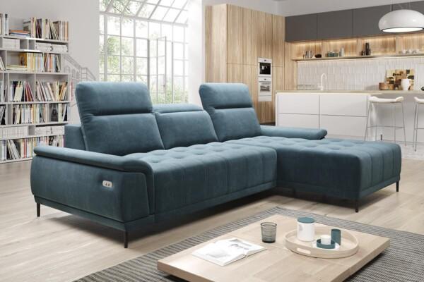 Кутовий диван Calvaro mini | Механізм для постійного сну з електричним приводом | Супермаркет диванів Relax Studio у Києві