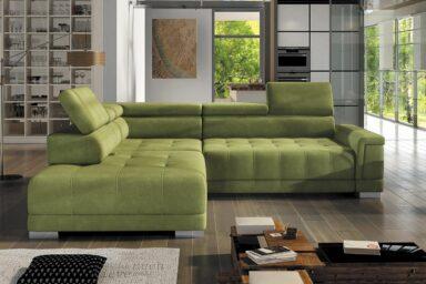 Угловой диван Campo l | Диван с раскладным спальным местом для гостиной | Супермаркет диванов Relax Studio