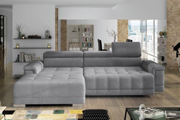 Угловой диван Campo mini | Подголовники с регулировкой по высоте | Угловые диваны купить в Киеве в супермаркете диванов Релакс Студио