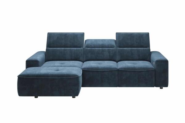 Кутовий диван Colombo-Mini з високими спинками та розкладним спальним місцем. Супермаркет диванів Relax Studio