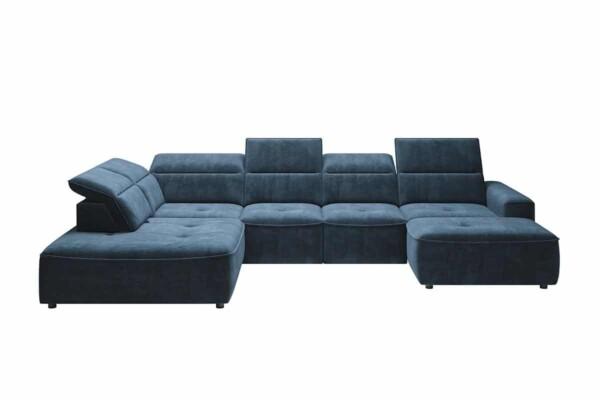 Угловой диван Colombo-XL с высокими спинками и раскладным спальным местом. Супермаркет диванов Relax Studio