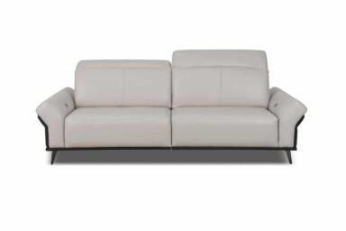 Прямой диван DM-B6000 Киев. С металлическими ножками. Кожаная обивка. Супермаркет диванов Relax Studio