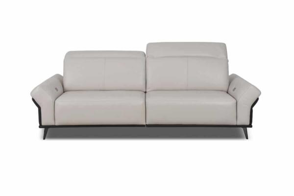 Прямий диван DM-B6000 Київ. З металевими ніжками. Шкіряна оббивка. Супермаркет диванів Relax Studio