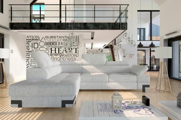 Небольшой угловой диван Emporio L купить Киев. Супермаркет диванов Relax Studio