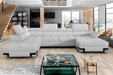 Большой угловой диван в гостиную Emporio XL. Киев. Супермаркет диванов Релакс Студио