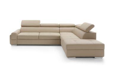 Кутовий диван Enzo з розкладкою для щоденного сну | М'які меблі з Європи у супермаркеті диванів Relax Studio