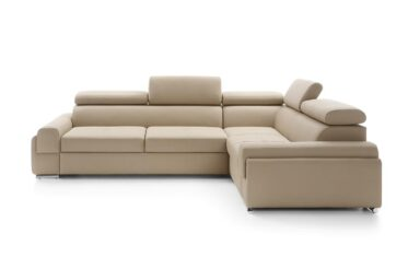 Кутовий диван Enzo II з розкладкою для щоденного сну | М'які меблі з Європи у супермаркеті диванів Relax Studio