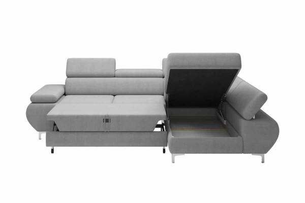 Угловой диван Flame-Mini купить Киев. Спальное место дельфин и ниша для белья. Супермаркет диванов Relax Studio
