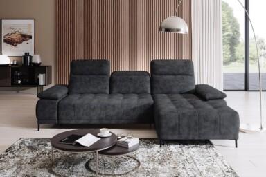 Кутовий диван Focus-Mini з електричною розкладкою спального місця купити в Україні. Супермаркет диванів Релакс Студіо
