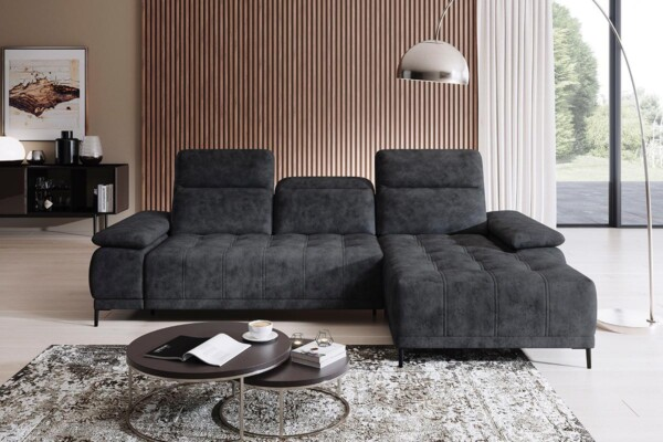 Угловой диван Focus-Mini с электрической раскладкой спального места купить в Украине. Супермаркет диванов Релакс Студио