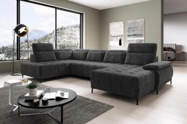 Кутовий диван Focus-XL з електричною розкладкою спального місця купити в Україні. Супермаркет диванів Релакс Студіо