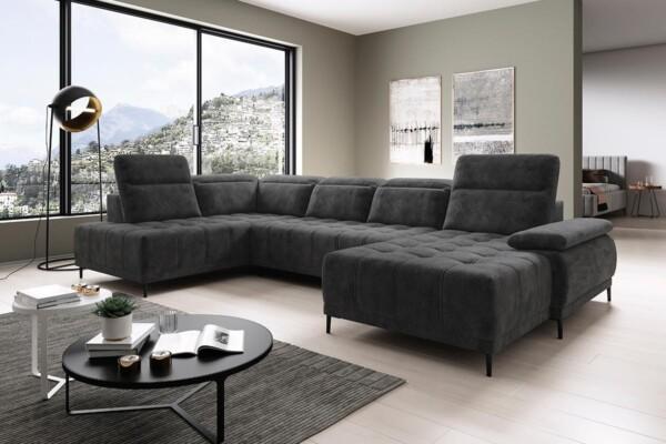 Угловой диван Focus-XL с электрической раскладкой спального места купить в Украине. Супермаркет диванов Релакс Студио