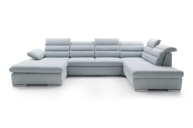 Кутовий диван Greco II - для великої вітальні | М'які куточки великих розмірів купити у Києві. Супермаркет диванів Relax-Studio