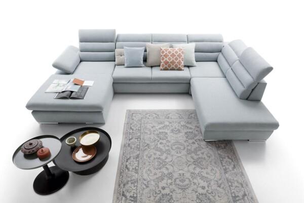 Угловой диван Greco II - модульный угловой диван с высокой спинкой | Мягкие уголки Киев. Супермаркет диванов Relax-Studio