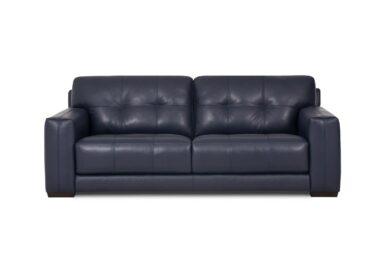 Сучасний шкіряний диван з декоративною прострочкою купити в Києві. Супермаркет диванів Relax Studio