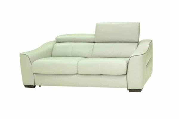 Кожаный диван с раскладкой миллениум. Модель HTL-9202-US-2,5SZ4. Супермаркет диванов Релакс Студио