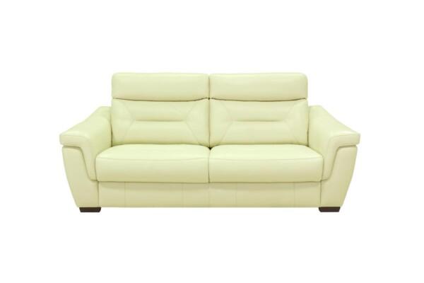 Шкіряний диван у вітальню. Модель 9578
