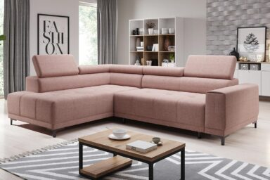 Кутовий диван Hugo L - для сучасних інтер'єрів. Великий вибір м'яких меблів у супермаркеті диванів Релакс Студіо