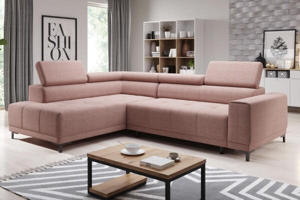 Угловой диван Hugo L - для современных интерьеров. Большой выбор мягкой мебели в супермаркете диванов Релакс Студио