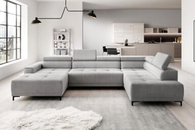 Угловой диван для просторной гостиной с электрической раскладкой. Модель Hugo-XL. Супермаркет диванов Релакс Студио