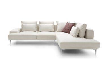 Диван угловой LIVIO на металлических ножках - для интерьеров с минималистичным характером. Оборудовано раскладным спальным местом.