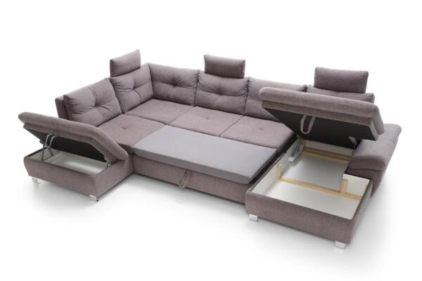 Угловой диван с раскладкой для сна и нишей для белья. Модель Madeira set.3 | Супермаркет диванов Relax Studio