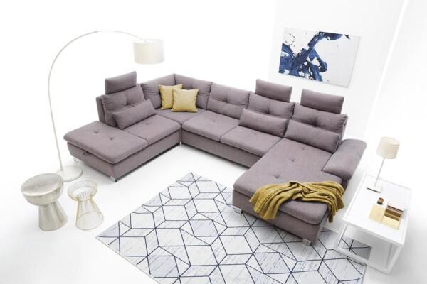 Великий кутовий диван з підголівниками | Модель Madeira set.3 Зроблено в Польщі. Салон меблів Relax Studio