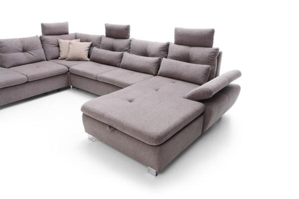Угловой диван с подлокотниками которые регулируются | Модель Madeira set.3 Сделано в Польше. Салон мебели Relax Studio