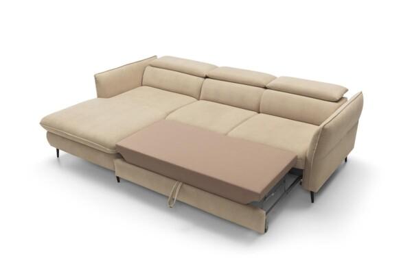 Mango - компактний кутовий диван з розкладкою для щоденного сну.
