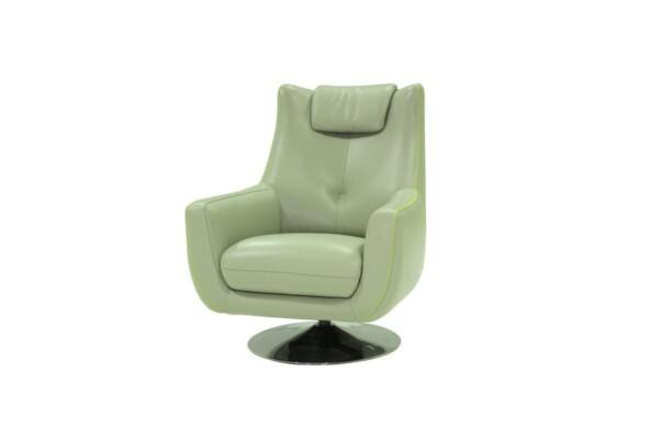 Купити шкіряне крісло для дому. Модель MU-10249-CS SCH. Супермаркет диванів Relax Studio