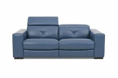 Прямой диван в кожаной обивке RS-11379-PR 2.5S2U. Киев. Супермаркет диванов Relax Studio