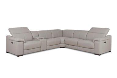 Кожаный угловой диван. Модель RS-11405. Супермаркет диванов Relax Studio