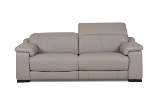 Современный кожаный диван. Модель RS-11405. Супермаркет диванов Релакс Студио