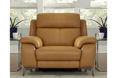 Шкіряне крісло на стильних хромованих ніжках. Модель RS-11486-PR. Супермаркет диванів Релакс Студіо
