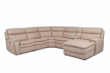 Кутовий шкіряний диван купити Київ. Модель RS-11491-PRCS. Супермаркет диванів Релакс Студіо