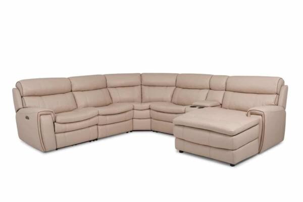 Угловой кожаный диван купить Киев. Модель RS-11491-PRCS. Супермаркет диванов Релакс Студио