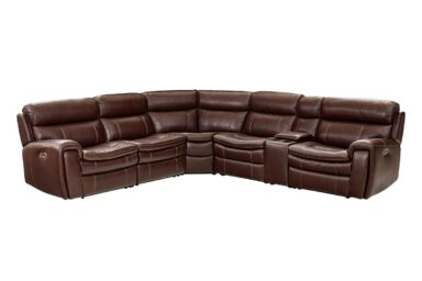 Мягкий уголок в коже. Модель RS-11491 | Супермаркет диванов Relax Studio