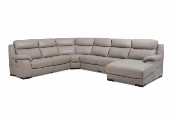 Купить угловой диван с высокой спинкой. Модель RS-11499-PR. Супермаркет диванов Relax Studio